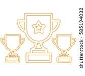 trophy cup  prize goblet on... | Shutterstock .eps vector #585194032