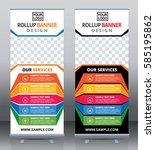 roll up brochure flyer banner... | Shutterstock .eps vector #585195862