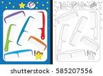 preschool worksheet for... | Shutterstock .eps vector #585207556
