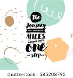 the journey of a thousand miles ... | Shutterstock .eps vector #585208792