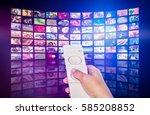 television tv stream smart... | Shutterstock . vector #585208852