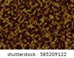 brown camouflage | Shutterstock . vector #585209122