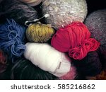 knitting. the multi colored... | Shutterstock . vector #585216862