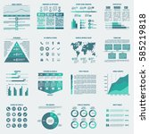 set of infographics templates.... | Shutterstock .eps vector #585219818