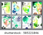 abstract background  brochure... | Shutterstock .eps vector #585221846