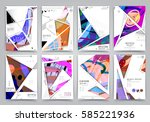 presentation template  brochure ... | Shutterstock .eps vector #585221936