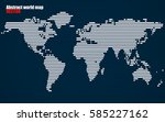 abstract world map with lines.... | Shutterstock .eps vector #585227162