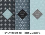 vector set of design elements... | Shutterstock .eps vector #585228098