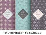 vector set of design elements... | Shutterstock .eps vector #585228188