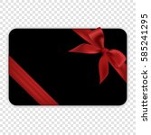 blank black gift card template... | Shutterstock .eps vector #585241295