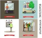 vector set of banking concept...   Shutterstock .eps vector #585253958