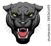 growling panther face | Shutterstock .eps vector #585261455