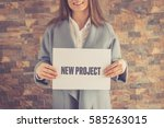 new project concept | Shutterstock . vector #585263015