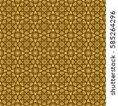 seamless gold and brown floral... | Shutterstock .eps vector #585264296