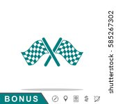 start finish cross flags icon | Shutterstock .eps vector #585267302
