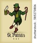 saint patrick's day vintage... | Shutterstock .eps vector #585273806