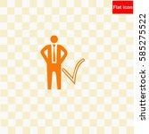 businessman with check mark ... | Shutterstock .eps vector #585275522