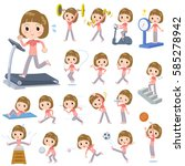 set of various poses of... | Shutterstock .eps vector #585278942
