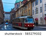 prague  czech republic  ... | Shutterstock . vector #585279332
