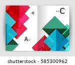 vector modern geometric annual... | Shutterstock .eps vector #585300962