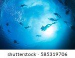 scuba divers | Shutterstock . vector #585319706