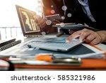 business team meeting. photo...   Shutterstock . vector #585321986