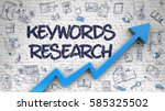 keywords research   modern... | Shutterstock . vector #585325502