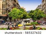 barcelona  spain   june 6  2016 ... | Shutterstock . vector #585327632
