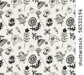 flower pattern | Shutterstock .eps vector #58533196