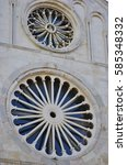 rosettes of cathedral of saint... | Shutterstock . vector #585348332