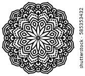 mandala for painting. vector... | Shutterstock .eps vector #585353432