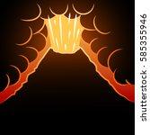 volcano background. the...   Shutterstock .eps vector #585355946