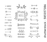 collection of handdrawn borders ... | Shutterstock .eps vector #585357386
