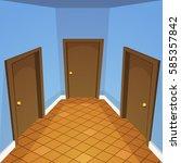 cartoon vector illustration of... | Shutterstock .eps vector #585357842