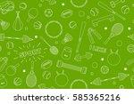 sports equipment pattern. set... | Shutterstock .eps vector #585365216