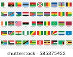 an illustrated country flags of ...