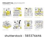 oil popularity modern layouts... | Shutterstock .eps vector #585376646