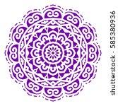 mandala. vector ethnic oriental ... | Shutterstock .eps vector #585380936