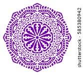 mandala. vector ethnic oriental ... | Shutterstock .eps vector #585380942
