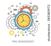 concept of time management.... | Shutterstock .eps vector #585383972