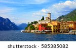 beautiful scenic lago di garda  ... | Shutterstock . vector #585385082