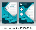 brochure template. business... | Shutterstock .eps vector #585387596