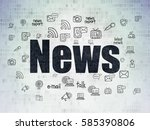 news concept  painted black...   Shutterstock . vector #585390806