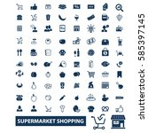 supermarket shopping icons  | Shutterstock .eps vector #585397145