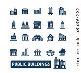 buildings icons | Shutterstock .eps vector #585397232