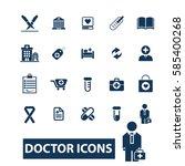 doctor icons  | Shutterstock .eps vector #585400268