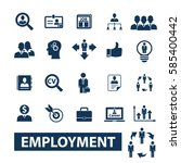 employment icons  | Shutterstock .eps vector #585400442