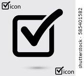 check list button icon. check... | Shutterstock .eps vector #585401582