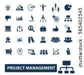 project management icons | Shutterstock .eps vector #585402545