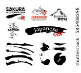 logo templates set with asia... | Shutterstock .eps vector #585408398